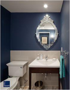 Powder Room Traditional Boston bathroom mirror ceiling lighting ...