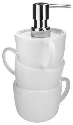 Dosif.jabón cocina PiledUp! 550ml cerámica - Balvi