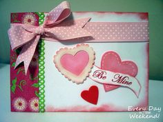 handcrafted Valentine card