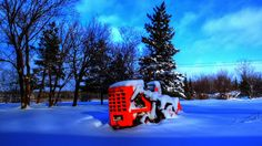 Hough Payloader Basking in Winter's Afternoon Sun in La Coulee, Manitoba
