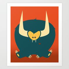 Love Monster Art Print by Grove