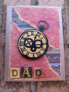steampunk-ish birthday card for dad