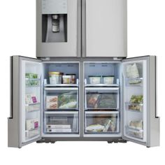 Samsung 31.7 cu. ft. French Door Refrigerator in Stainless Steel-RF32FMQDBSR at The Home Depot