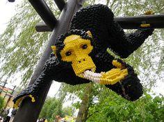 LEGO monkey with banana.