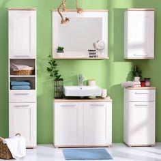 Dulapul de baie Romance se remarcă prin designul în linii moderne și culori versatile. #mobexpert #mobilierbaie #sanitare #reduceri Homes, Interior Design, Bathroom, Furniture, Home Decor, Nest Design, Washroom, Houses, Decoration Home
