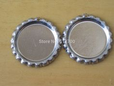 Free Shipping 100 Pcs Both Side Colored Flattened Bottle Caps with holes For Jewelry Pendants necklace Chrome bottlecaps