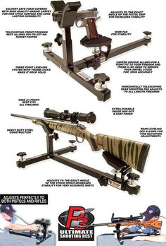 The P3 Shooting Rest is great for both pistols and rifles.