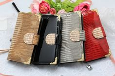 LUMIEL DIA GOLD SNAKE DIARY WALLET SMARTPHONE CASE FOR LG G FLEX 2