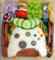 "There are a few moms out there who make these Incredible Bento Box Lunches EVERY DAY for their kids. They use ordinary food and creatively disguise, decorate and organize it. This I think are ""play Station Game controls"" for a husband!"