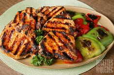 Grilled Pork Chops Boneless, Grilled Pork Steaks, Bbq Pork Ribs, Grilled Steak Recipes, Grilled Meat, Pork Rib Recipes, Easy Chicken Recipes, Glazed Pork Chops, Healthy Grilling Recipes