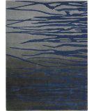 RugStudio presents Nourison Lakeside LAK01 Gray Navy Hand-Tufted, Good Quality Area Rug