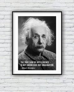Albert Einstein Intelligence Quote Quote poster by LecalePrints