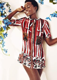 Harper's Bazaar UK May 2015: Actress Lupita Nyong'o...