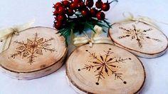 Copo de nieve árbol de navidad ornamento del por CraftyGirlStore