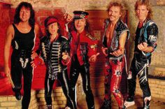 Scorpions - Herman Rarebell, Klaus Meine, Matthias Jabs {♡}, Rudolf Schenker, and Francis Buchholz Hair Metal Bands, 80s Hair Bands, 80s Rock Bands, Defender Of The Faith, Rock Anthems, Band Camp, Heavy Rock, Glam Metal, Rock Of Ages