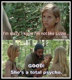 Walking dead psycho lizzie