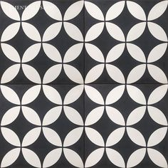 Order Rustico Tile and Stone Encaustic Cement Tile Circulos WB Geometric Pattern / delivered right to your door. Mosaic Tiles, Wall Tiles, Tiling, Gatsby, Mandarin Stone, Black And White Tiles, Black White, Outdoor Tiles, Encaustic Tile