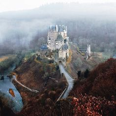 """""""I ventured out to Western Germany in the early hours of the morning, looking for spontaneity and a new adventure. I stumbled upon this beautiful castle and its surrounding mountains as they were still bathing in the early morning fog; it all felt so surreal, almost as if I'd stepped into the pages of a real life fairytale."""" - John Bozinov   Eltz Castle, Germany #passionpassport"""