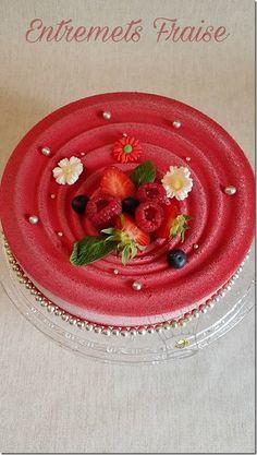 Entremet a la fraise