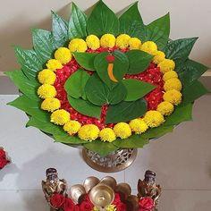 Diwali Decorations At Home, Home Wedding Decorations, Backdrop Decorations, Festival Decorations, Flower Decorations, Rangoli Designs Flower, Colorful Rangoli Designs, Flower Rangoli, Ganpati Decoration Design