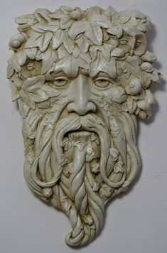 Gort Green Man Sculpture: natural finish - Spirit of the Green Man - Modern Design Holly King, Tree Faces, Man Faces, Nature Spirits, Sculpture Art, Sculpture Ideas, Human Sculpture, Garden Sculptures, Metal Sculptures