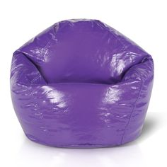 Jordan Manufacturing Junior Wetlook Bean Bag Chair (Grape), Purple, Size Small (Vinyl)