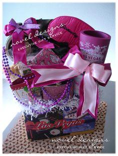 Customized Las Vegas Bachelorette Gift Basket - #Bachelorette #GiftBasket - noveldesignsllc.com