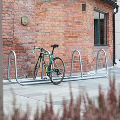 galvanized steel bike rack / for public spaces