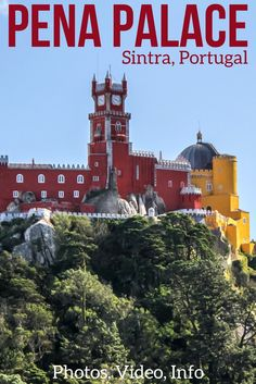 Such a unique place! Discover in video and photos the surprising Pena Palace in Sintra Portugal - a colorful Unesco site on top a hill not far from Lisbon. At the end, the mix of architecture just works and fascinates. Info to plan your visit at the end of the article | Portugal Travel Guide | Portugal Sintra | Portugal things to do | Portugal Itinerary | Portugal photography