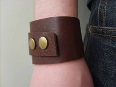 Cool Crafts You Can Make for Less than 5 Dollars | Cheap DIY Projects Ideas for Teens, Tweens, Kids and Adults | The Leather Cuff tutorial | http://diyprojectsforteens.com/cheap-diy-ideas-for-teens/