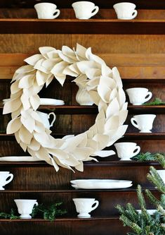 Imaginative Halloween Costumes - The Best Way To Be Artistic With A Budget How To Make An Easy And Quick Drop Cloth Wreath Project From The Tutorial First Listed On Thistlewood Farms Holiday Crafts, Christmas Wreaths, Christmas Crafts, Christmas Decorations, Christmas Ideas, Winter Wreaths, Outdoor Decorations, Spring Wreaths, Christmas 2016