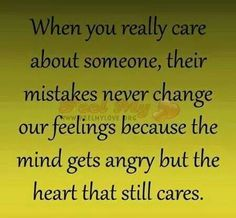 When you really care about someone . .