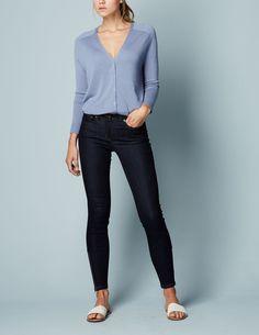 Zip Ankle Skimmer Jean