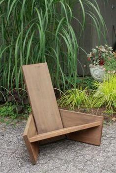 Modern take on Adirondack chairs. Michelle's garden in Connecticut, Day 1 | Fine Gardening