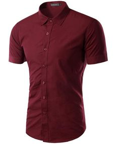 ce9db5e5e0bb New 2017 Summer Men s short Sleeve Shirt Slim Fit Camisa Social Masculina  Chemise Homme Mens Solid Color Business Shirts M-XXXL