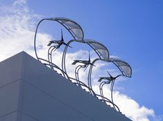 alternate view of aerovironment's rooftop wind turbines via inhabitat