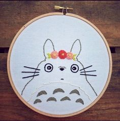 Totoro embroidery.