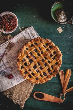 Balsamic Cherry Pie with a Black Pepper Crust // Adventures in Cooking