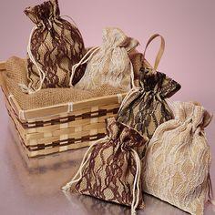 Lace & Burlap Bags - $0.35 each