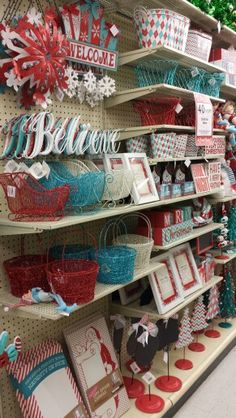 Hobby Lobby - Red White & Aqua Christmas Decor ~ ooooo :o) I like! Turquoise Christmas, Green Christmas, Country Christmas, Christmas Themes, Christmas Tree Decorations, Holiday Crafts, Vintage Christmas, Christmas Holidays, Silver Christmas