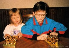 Christina (2 and a half) and Will (7 and a half) on Epiphany 1993 by Deb Chitwood, via Flickr