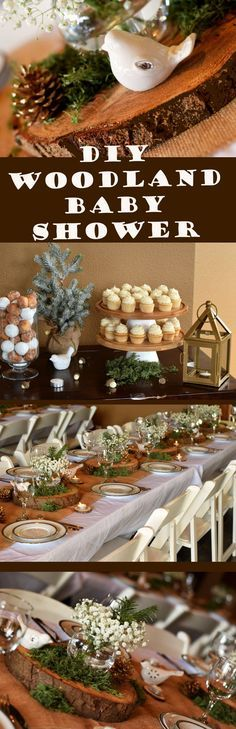 Learn how you can throw an amazing Woodland Baby Shower with minimal effort by DIY projects and using decor items you can purchase at the Dollar Store!