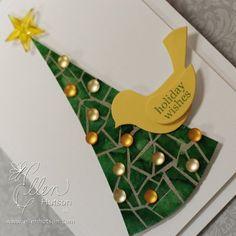Mosaic Christmas Tree Closeup