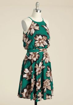 That's My Jam Floral Dress in Jade, @ModCloth