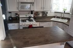 Bathroom Concrete Countertops And Copper On Pinterest