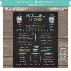 Instant+Download+1st+Birthday+Chalkboard+Poster+Prop+by+printmagic,+$7.95