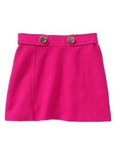Seamed mini skirt   Gap
