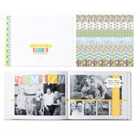 Family Spotlight Photobook Template -- Perfect for documenting your family reunion.  Capture all the fun and awkward moments!  Download includes: * 26-page photobook designer template * 12-piece SVG stamp brush set * 7 Designer Series Papers * 28 embellishments  * Coordinates with the Family Spotlight Ensemble  Colors: Basic Gray, Marina Mist, Ruby Red, Soft Suede, Summer Starfruit, Wild Wasabi