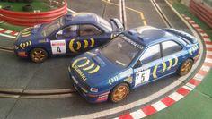 Sacando a pasear mis dos Subaru del equipo oficial, el de Carlos Sainz y el de Colin McRae