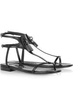 Tom Ford   Embellished leather sandals   NET-A-PORTER.COM